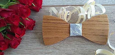 Doplnky - Pánsky drevený motýlik - 10852573_