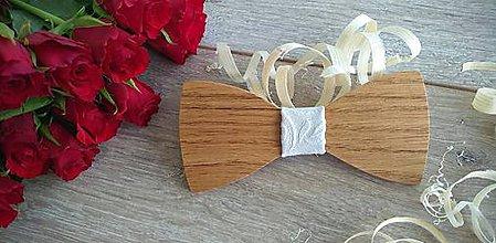 Doplnky - Pánsky drevený motýlik - 10852606_