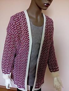 Kabáty - Pletený kabátik - 10852282_