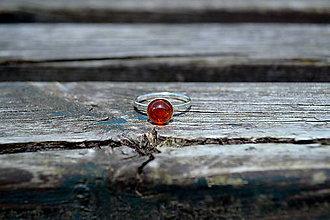 Prstene - Strieborný prsteň Granát Hessonit - 10851882_