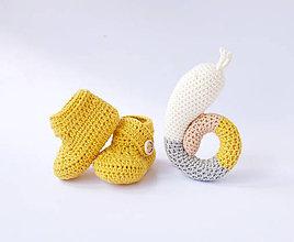 Topánočky - Jednofarebné papučky (9cm (útly novorodenec)) - 10852165_