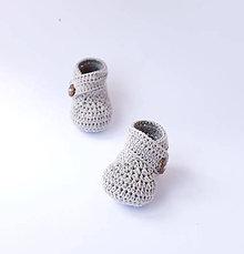 Topánočky - Jednofarebné papučky (9,50 cm (0-3mesiac)) - 10852187_