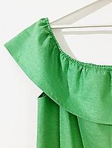 - Zelené ľanové šaty - 10852248_