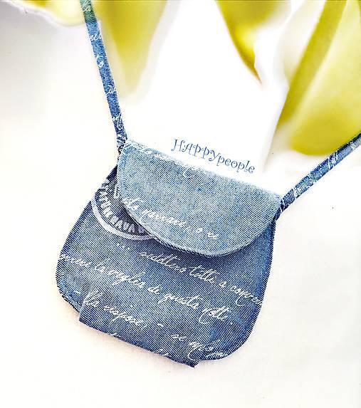Mini kabelka bavlnená modrá