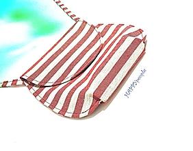 Kabelky - mini kabelka pásiková červená - 10852788_
