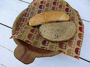 Úžitkový textil - voskovaný obrúsok sova - 10852438_