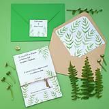 Papiernictvo - V lese - svadobné oznámenie - 10851577_