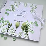 Papiernictvo - Svadobná kniha - biela 30x30cm - 10851591_