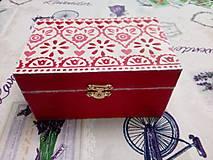 Krabičky - Šperkovnica so srdiečkami - 10854964_