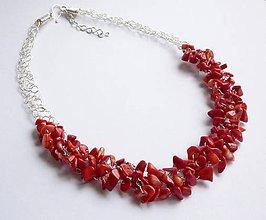 Sady šperkov - Náhrdelník a náušnice z koralu - 10855122_