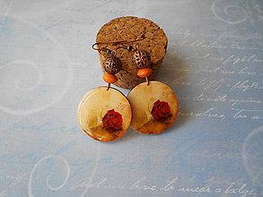 Náušnice - Zámocká ruža - 10854680_