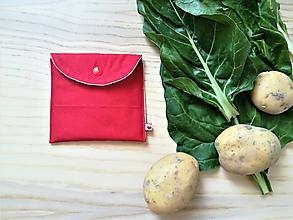 Úžitkový textil - Súprava vrecúšok na nákup zeleniny - juicy red (Červená) - 10855087_