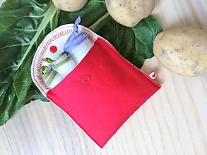Úžitkový textil - Súprava vrecúšok na nákup zeleniny - juicy red - 10855115_