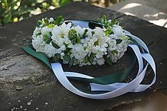 Ozdoby do vlasov - Biela svadobná parta - 10854625_