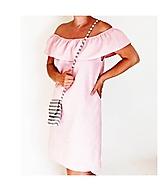 Ružové ľanové šaty
