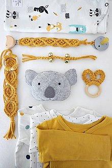 "Hračky - macramé set pre bábätko ""mustard - 10853753_"