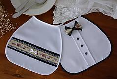 Iné doplnky - Svadobné podbradníky - vintage MODRÉ - 10854536_