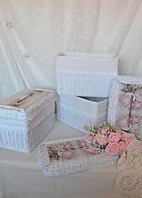 Košíky - Krabička na dary od svadobných hostí - 10853352_