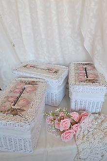 Košíky - Krabička na dary od svadobných hostí - 10853351_