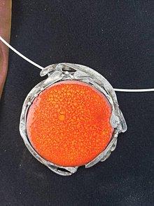 Náhrdelníky - Oranž prívesok-pomaranč - 10853416_