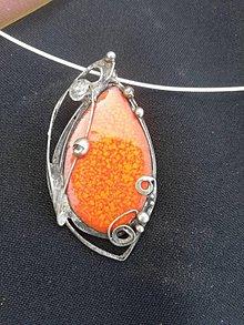 Náhrdelníky - Oranžová slza - 10853453_