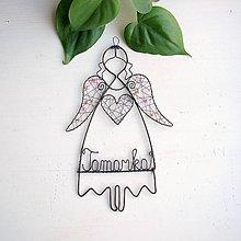 Dekorácie - anjelik s menom - 10857377_