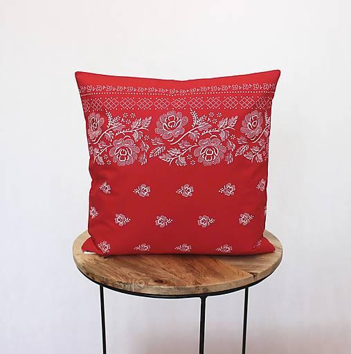 obliečka na vankúš Folk červená (3veľkosti)