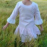 Šaty - Šatky Ružový pásik + madeira - 10856373_