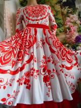 """Sukne - FLORAL FOLK """" Slovenská ornamentika """", spoločenská sukňa v dĺžke midi - 10855561_"""