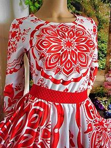 """Tričká - FLORAL FOLK """" Slovenská ornamentika """", tričko s 3/4 rukávom - 10855518_"""