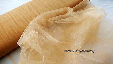 Textil - Tyl s leskom - hnedo zlatá (Zlatá) - 10856628_