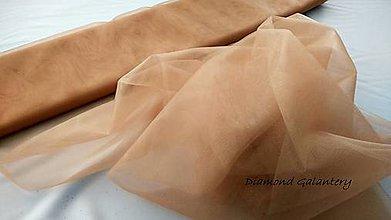 Textil - Tyl s leskom - hnedo zlatá (Kapučíno) - 10856638_