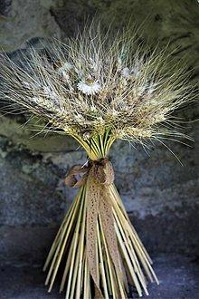 Dekorácie - Kytica z obilia - 10856444_