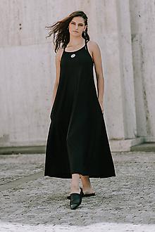 Šaty - FNDLK úpletové šaty 405 ARm maxi - 10856605_