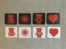 Hračky - Obrázky pre bábätká/ČERVENÉ - 10857036_