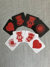 Hračky - Obrázky pre bábätká/ČERVENÉ - 10857038_