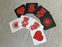 Hračky - Obrázky pre bábätká/ČERVENÉ - 10857039_