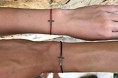 Náramky - Náramky pre párik s krížikom - 10855227_