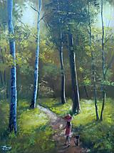 Obrazy - Lesní pěšina - 10857565_