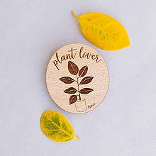 Odznaky/Brošne - plant lover ~ brošne (fikus) - 10857236_