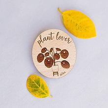 Odznaky/Brošne - plant lover ~ brošne (pilea) - 10857238_