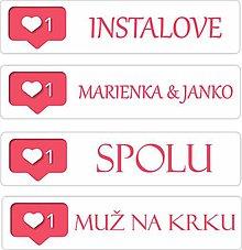 Tabuľky - Svadobná ŠPZ kol. INSTALOVE (nálepka) - 10857826_