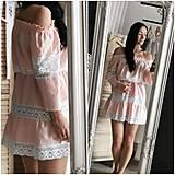 Šaty - Ľanové šaty s bavlnenou krajkou - 10856975_