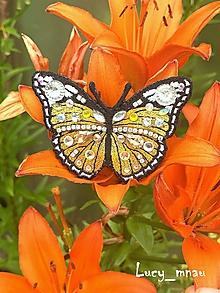 Odznaky/Brošne - Brošnička motýľ- žltý :) - 10857291_