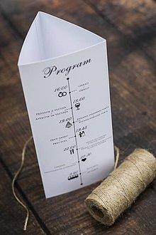 Papiernictvo - TROJHRAN na svadobný stôl - 10857723_