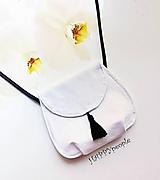 Mini kabelka čierno- biela