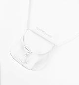 Kabelky - Mini kabelka biela so strapcom - 10857262_