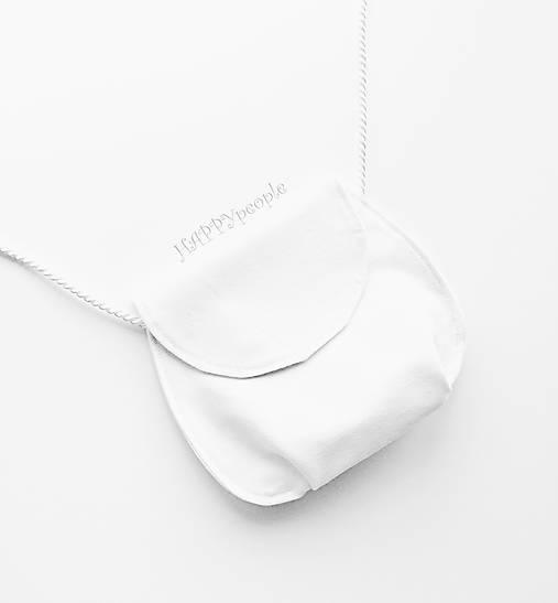 Mini kabelka biela