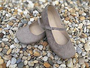 Obuv - barefoot balerinky s remienkom - 10855665_