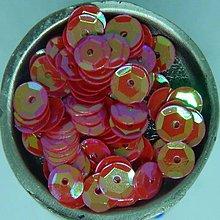 Iný materiál - Flitre lomené 7mm červené AB - 10856864_